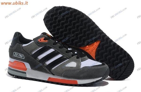 adidas zx 750 grigio arancio